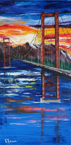 Bridge Over Ocean Art Print