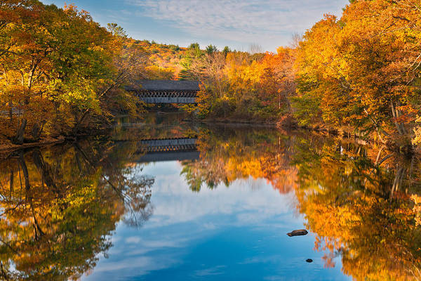Henniker Photograph - Bridge Over The Contoocook by Michael Blanchette
