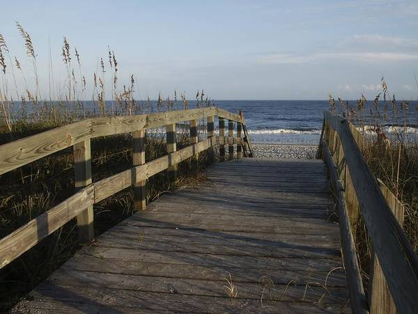 Photograph - Bridge Over The Dunes At Myrtle Beach by MM Anderson