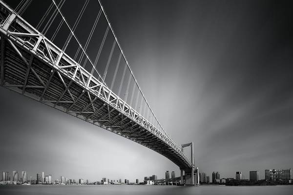 Wall Art - Photograph - Bridge Profile Series @ Sumida River, Tokyo, Japan | No.0 | Rainbow Bridge Mk.i, 1993 by Dr. Akira Takaue