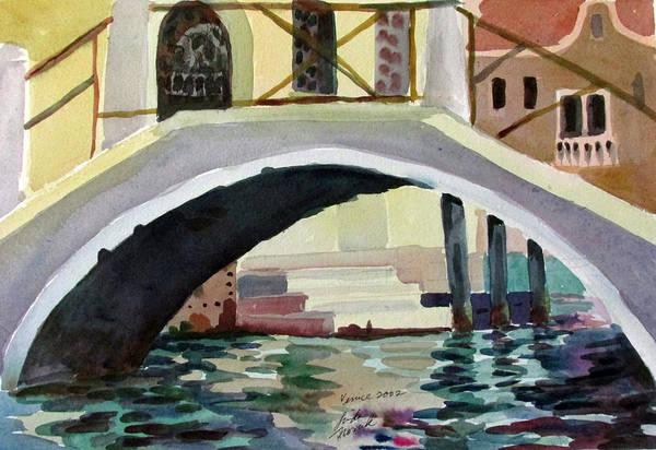 Painting - Bridge Reflections Venice by Linda Novick