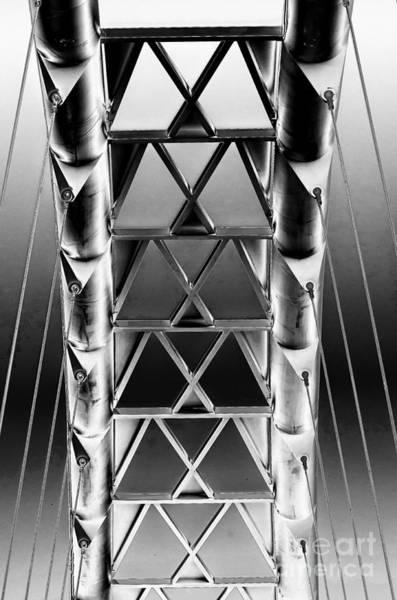 Photograph - Bridge Structure by Les Palenik