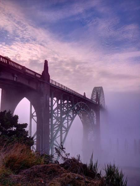Photograph - Bridge To Fog by HW Kateley