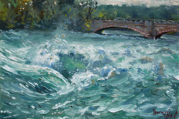 Wall Art - Painting - Bridge To Goat Island by Ylli Haruni