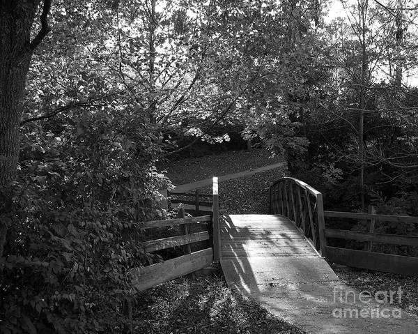 Photograph - Bridge To Nowhere 1 Bw by Mel Steinhauer