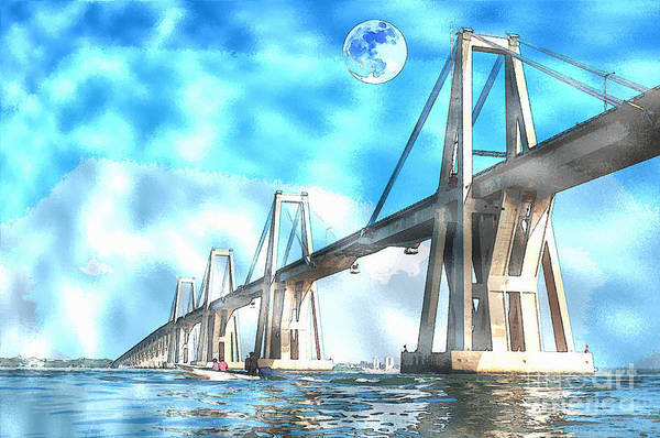 Future Mixed Media - Bridge To The Future by Celestial Images