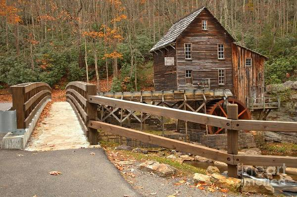 Photograph - Bridge To The Grist Mill by Adam Jewell