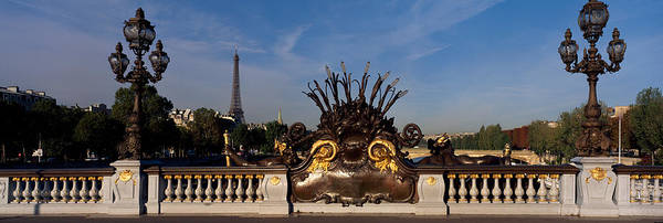 Alexandre Photograph - Bridge With A Tower In The Background by Panoramic Images