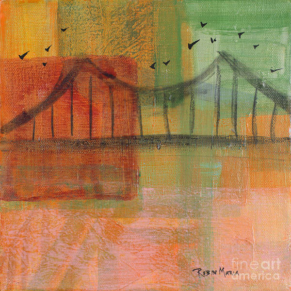 Painting - Bridge With Birds by Robin Maria Pedrero