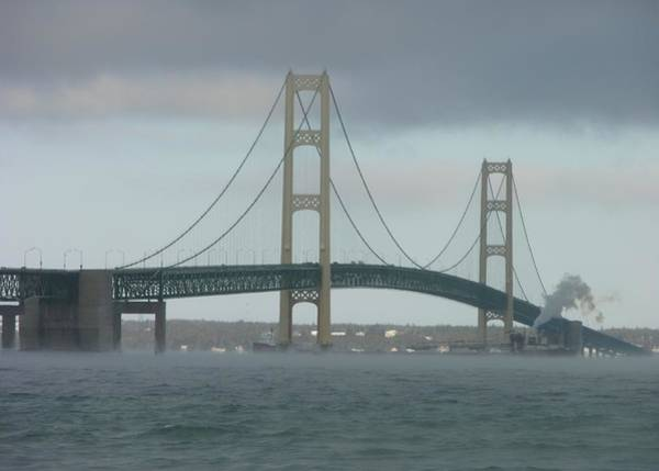 Wall Art - Photograph - Bridge With Haze by Keith Stokes