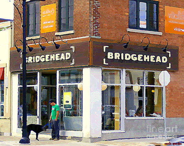 Painting - Bridgehead Brunch Bar On Bank Glebe Coffeehouse Restaurant Ottawa  Streetscenes Paintings Cspandau  by Carole Spandau