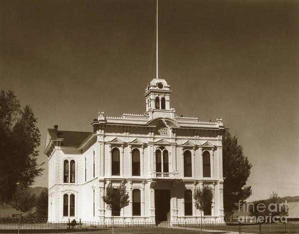 Photograph - Bridgeport Courthouse Mono Co. April 26 1935 by California Views Archives Mr Pat Hathaway Archives