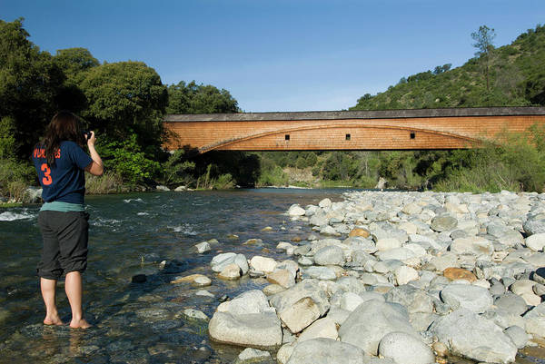 Yuba River Photograph - Bridgeport Covered Bridge At The South by Josh Miller Photography