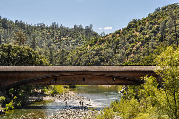 Yuba River Photograph - Bridgeport Covered Bridge by Pamela Schreckengost