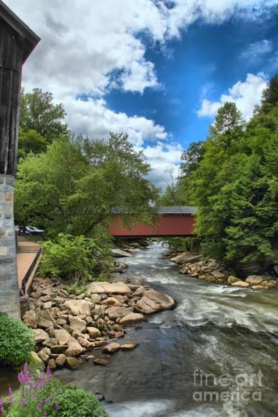 Bridging Slippery Rock Creek Art Print