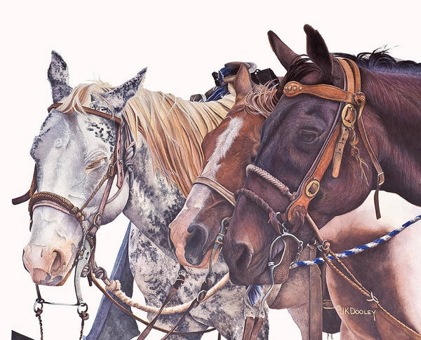 Painting - Bridle Gossip by JK Dooley