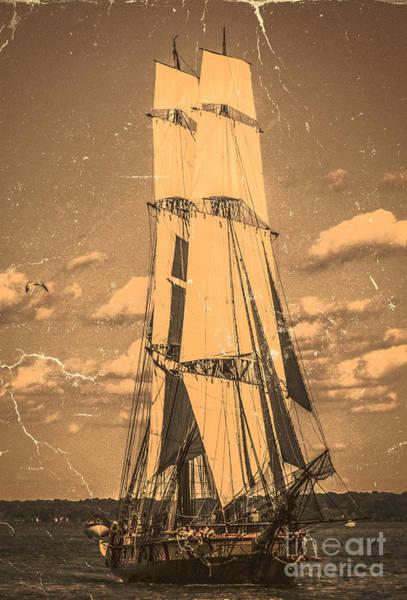 Digital Art - Brig Niagara Antique by Kathryn Strick