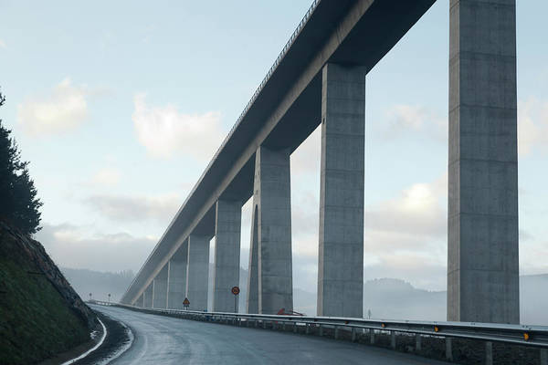 Photograph - Brigde And Road by Hepatus