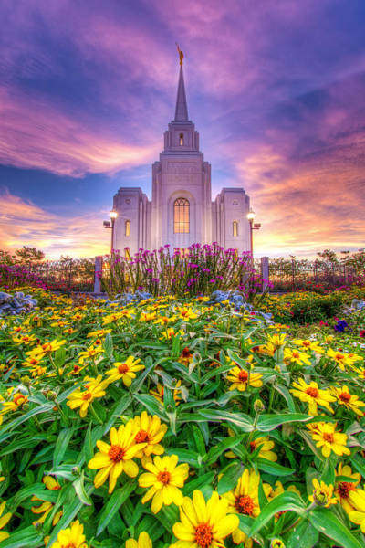 Art Print featuring the photograph Brigham City Temple by Dustin  LeFevre