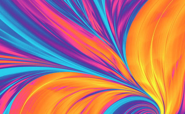 Photograph - Bright Abstract Background, Flame by Oxygen