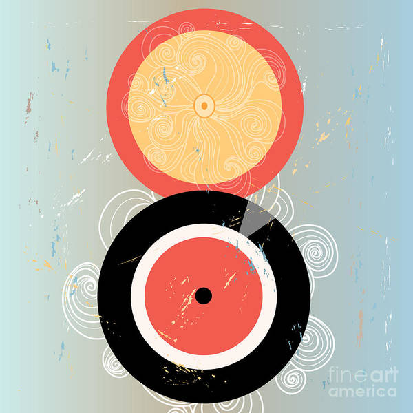 Circle Digital Art - Bright Abstract Background With Plates by Tanor