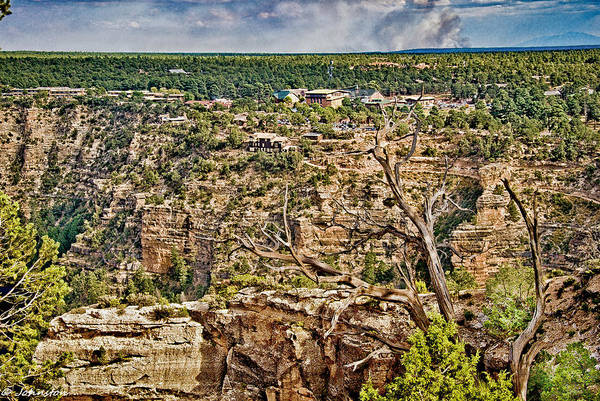 Photograph - Bright Angel And El Tovar Hotel South Rim by Bob and Nadine Johnston