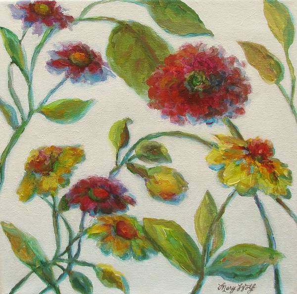 Painting - Bright Contemporary Floral  by Mary Wolf