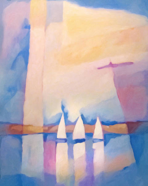 Painting - Bright Day At Sea by Lutz Baar