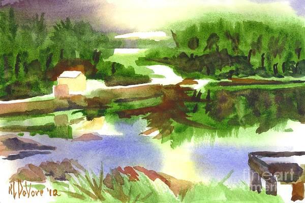 Painting - Bright Evening Dusk At Shepherd Mtn Lake by Kip DeVore