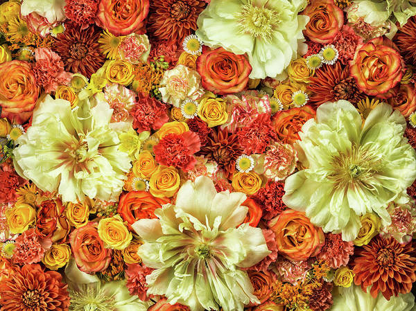 Repetition Photograph - Bright Flower Arrangement, Full Frame by Jonathan Knowles