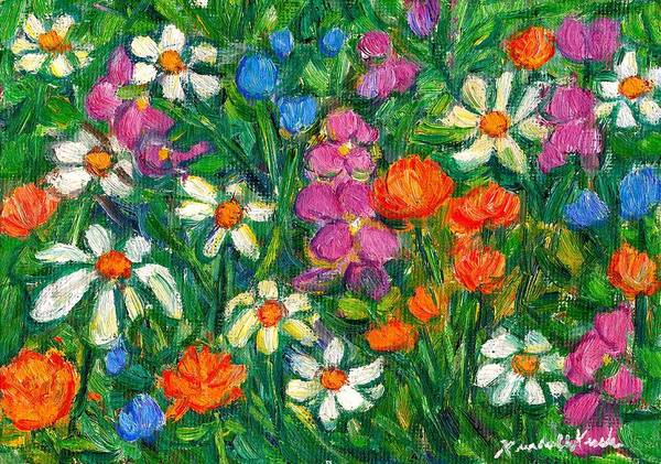 Painting - Bright Flowers by Kendall Kessler