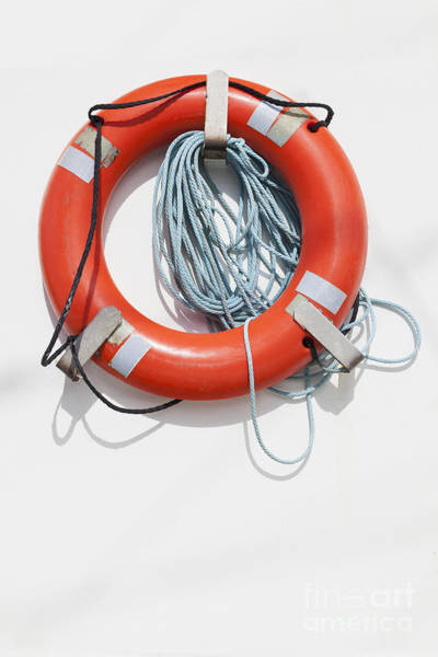 Photograph - Bright Life Saving Ring by Bryan Mullennix