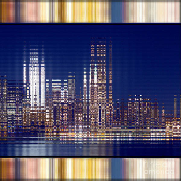 Digital Art - Bright Lights Of The City by Beverly Claire Kaiya