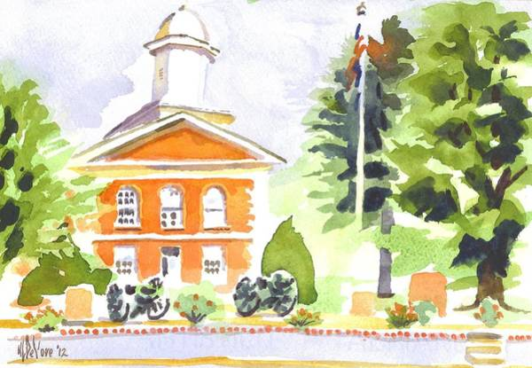 Painting - Bright Morning At The Courthouse by Kip DeVore