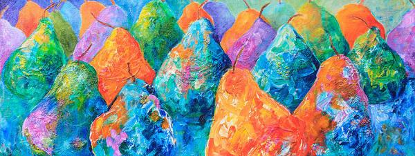 Bright Pears Art Print