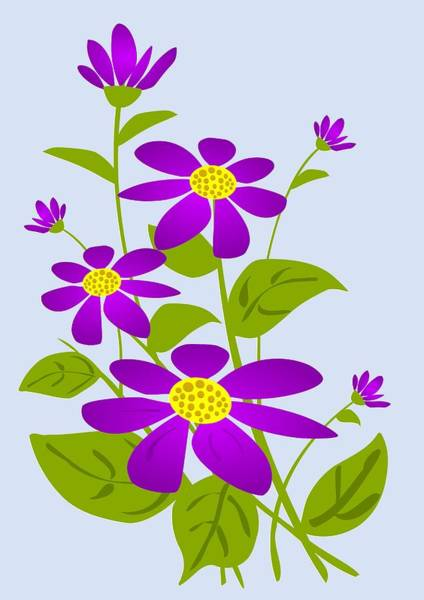 Digital Art - Bright Purple by Anastasiya Malakhova