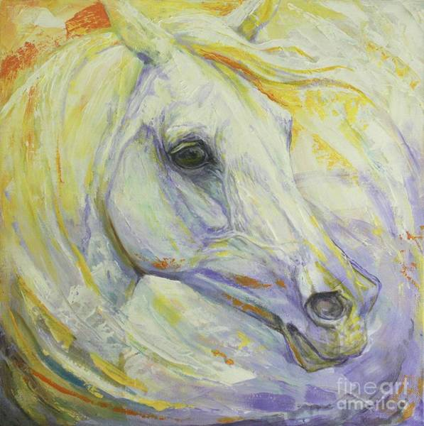 White Horse Wall Art - Painting - Bright Spring by Silvana Gabudean Dobre