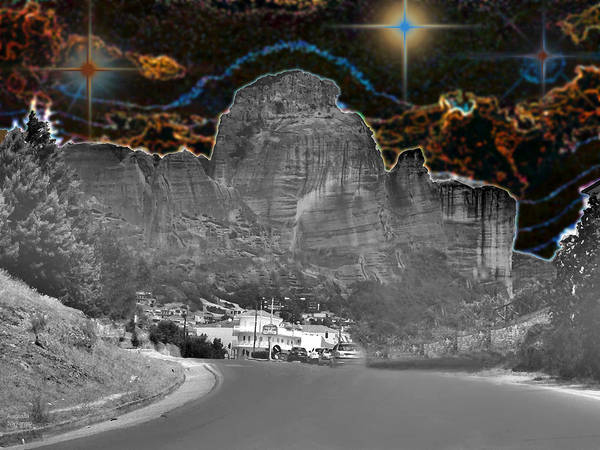 Photograph - Bright Star Over Mountain by Augusta Stylianou