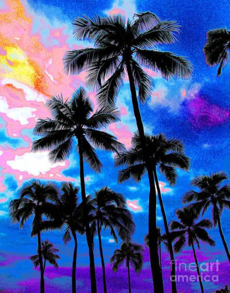 Photograph - Bright Waikiki Beach Dusk by Larry Oskin