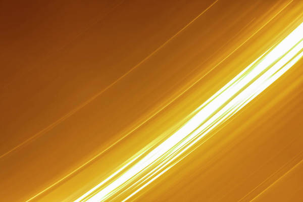 Time Frame Wall Art - Photograph - Bright White Lights Moving On Gold by Kim Westerskov