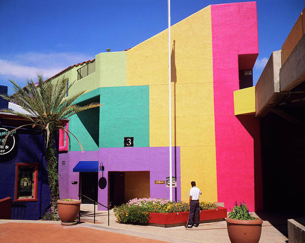Tucson Photograph - Brightly Coloured Building by Adam Hart-davis/science Photo Library