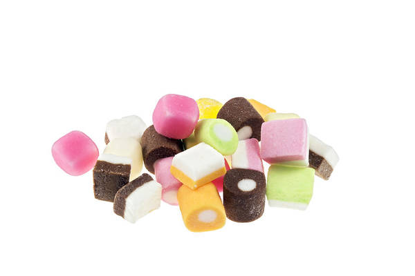 Sweeties Photograph - Brightly Coloured Sweets. by Geoff Kidd/science Photo Library
