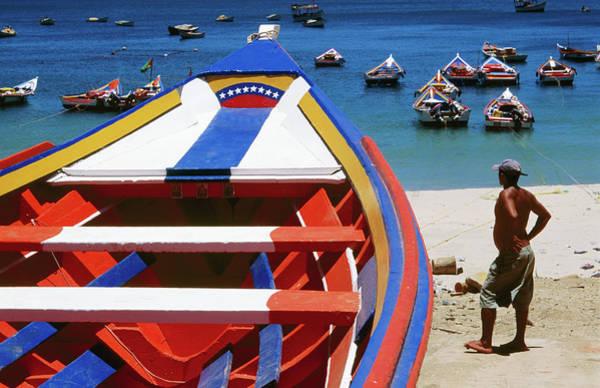 Manzanillo Photograph - Brightly-painted Boats On Playa by Wayne Walton