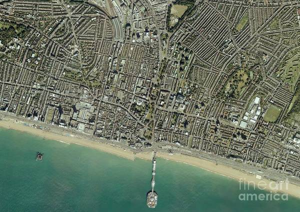 Road Map Photograph - Brighton, Aerial Photograph by Getmapping Plc