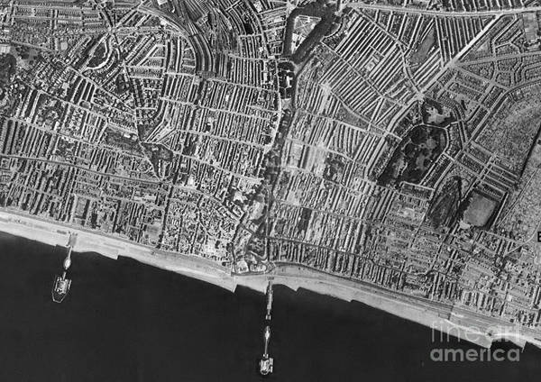 Road Map Photograph - Brighton, Historical Aerial Photograph by Getmapping Plc
