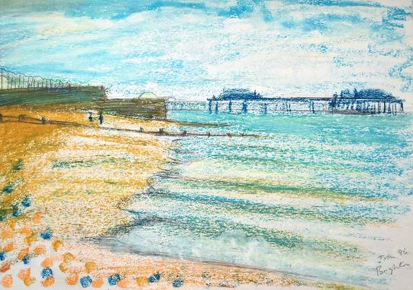 Brighton Pier Drawing - Brighton by John Parsons