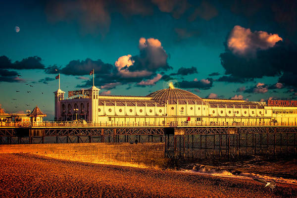 Photograph - Brighton Palace Pier Sunset by Chris Lord