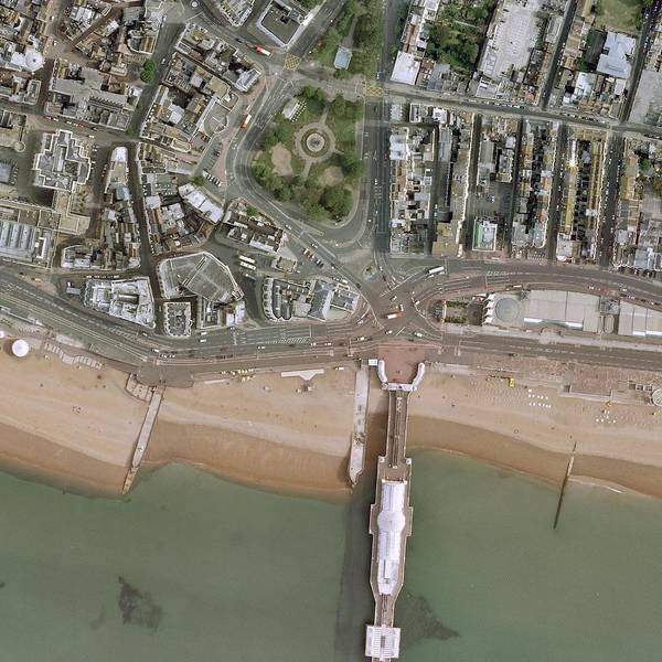 Brighton Pier Photograph - Brighton Pier And Seafront by Getmapping Plc/science Photo Library
