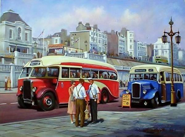 Brighton Painting - Brighton Prom. by Mike Jeffries