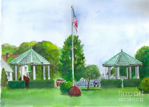 Wall Art - Painting - Brightwaters Gazebos by Sheryl Heatherly Hawkins